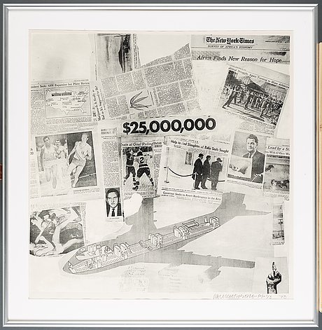 """Robert rauschenberg, """"features from currents""""."""