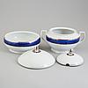 """Sigvard bernadotte, servis, 84+ 13 delar,porslin. """"christineholm"""" eller """"marianne royal blue"""", millenium, design, 2000"""