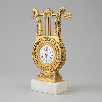 EMPIRE, A TABLE CLOCK, empire, early 19th century.