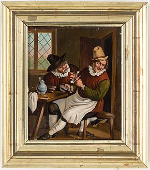 OKÄND KONSTNÄR, olja på koppar, 1800-tal.