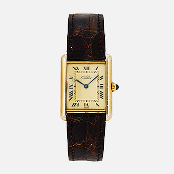 must de CARTIER, Tank, armbandsur, 23 x 23 mm.