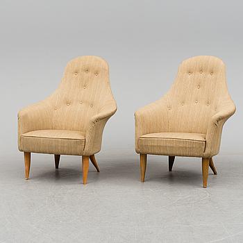 KERSTIN HÖRLIN-HOLMQUIST, a pair of 'Stora Adam' easy chairs from Nordiska Kompaniet.