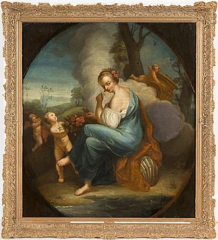 UNKNOWN ARTIST, oil on canvas, 18th century.