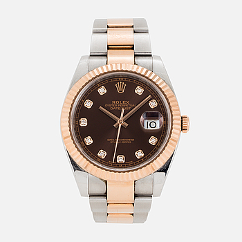 ROLEX, Oyster Perpetual, Datejust 41, Chronometer, wristwatch, 41 mm,
