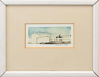 LARS LERIN, akvarell. signerad och daterad -84.