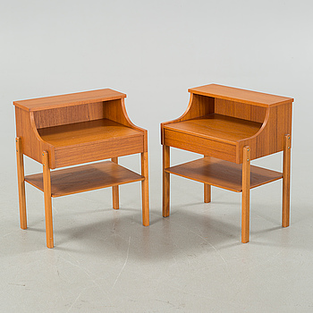 A pair of bedside table from AB Carlström & Co, second half of the 20th century.