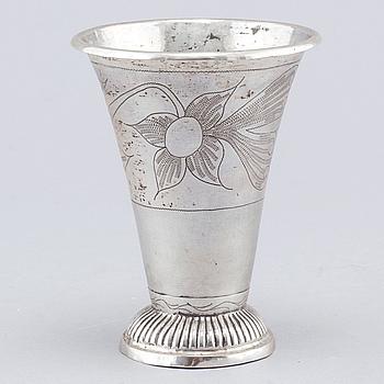 BÄGARE, silver, Hans Lyberg, Borås, 1848.