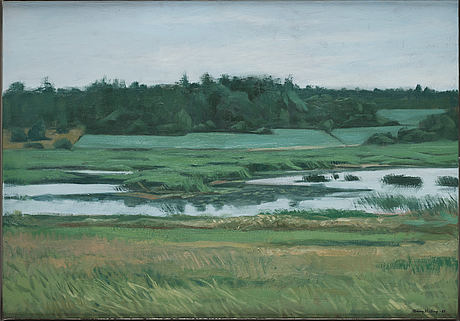 Tommy hilding, oil on canvas, signed and dated -88.