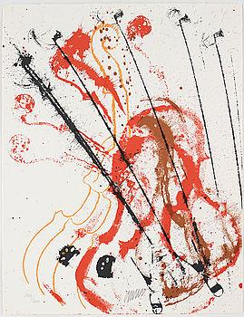 FERNANDEZ ARMAN, mapp med tre färgserigrafier, signerade och numrerade 144/200.
