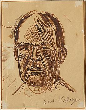CARL KYLBERG, ink drawing, signed.