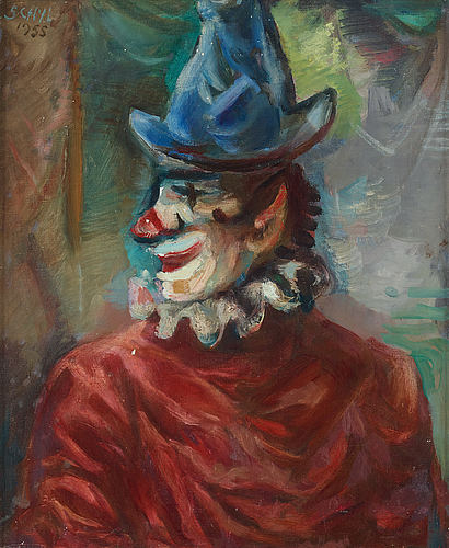 Jules schyl, oil on canvas, signed and dated -55.