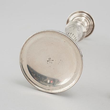 Ljusstakar, ett par, silver, 1900 talets första hälft