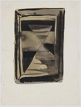 ARVID PETTERSEN, mixed media on paper.