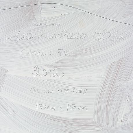 Hannaleena heiska, oil on panel, signed and dated 2012 on verso.