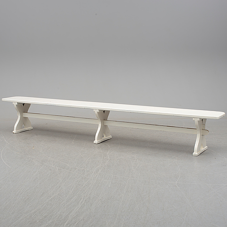 An early 20th century painted bench