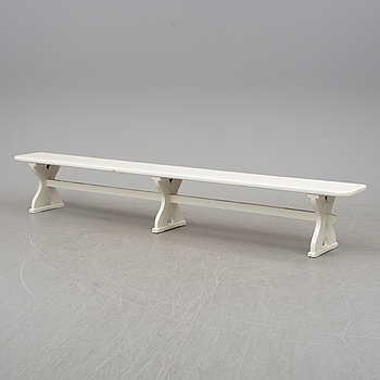 An early 20th century painted bench.