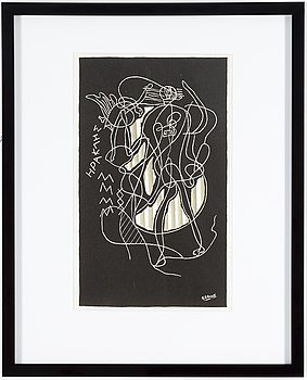 GEORGES BRAQUE, GEORGE BRAQUE, after, lithographe, signed in the matrix, from Derrière le miroir no 36-37-38.