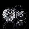 Elis bergh, a set of 59 pieces of 'karlberg' glass tableware by elis bergh, kosta