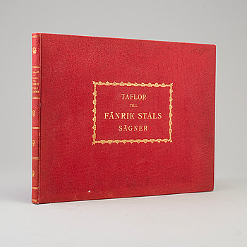 """BOK, """"Taflor till Fänrik Ståls sägner"""", P. B. Eklunds förlag, Stockholm, 1884."""