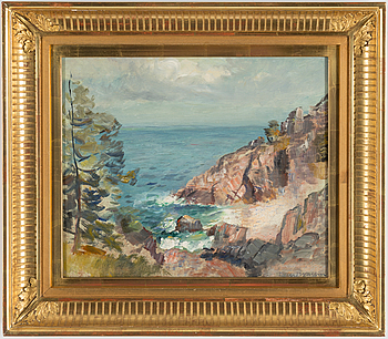 DAVID WALLIN, oil on canvas, signed.