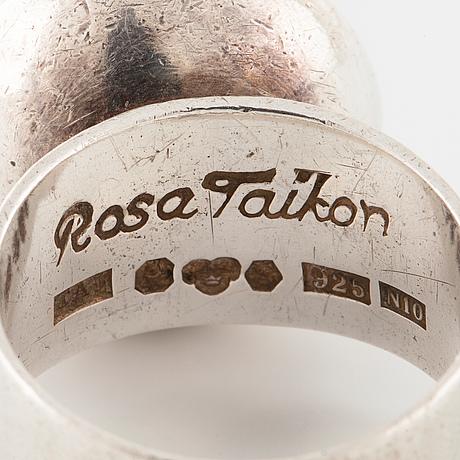Rosa taikon, stockholm, 1987, ring.