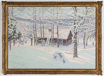 ANSHELM SCHULTZBERG, Olja på duk, signerad och daterad 1920.