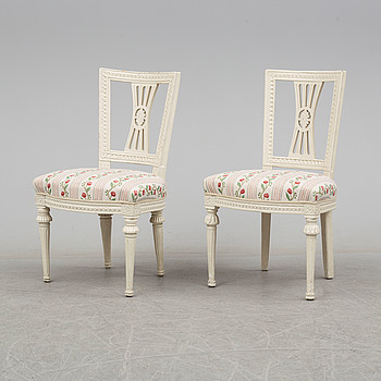 TWO CHAIRS, gustavian, ca 1800.