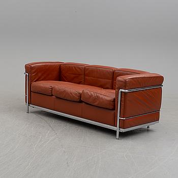 LE CORBUSIER, PIERRE JEANNERET & CHARLOTTE PERRIAND soffa, LC2, Cassina, Italien.