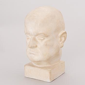 MAUNO OITTINEN, skulptur, gips, signerad Mauno Oittinen 1929.