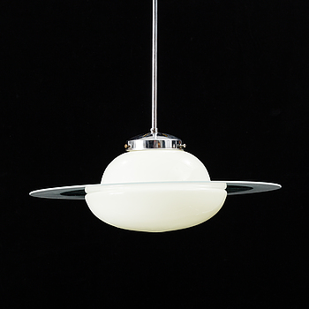 A second half of the 20th century Saturn ceiling lamp.