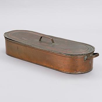 FISKKASTRULL, koppar, tidigt 1900-tal.