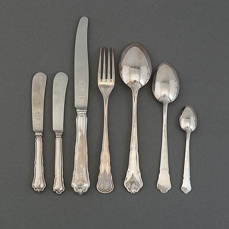 "Silverbestick, 58 delar, ""chippendale"""