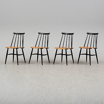 "ILMARI TAPIOVAARA, 4 ""fanett"" chairs by Ilmari Tapiovara, second part of the 20th century."