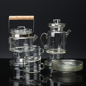 SIGNE PERSSON-MELIN, 14 delar, glas, teservis.