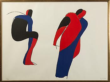 LAGE LINDELL, Färglitografi, signerad och numrerad 58/68.