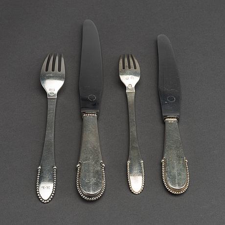 A danish 20th century set of 4 sterling cutlery mark of g jensen copenhagen 1925 total weight ca 229 gr