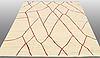 A carpet, flat weave, around 233 x 190 cm.