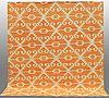 A carpet, flat weave, around 294 x 264 cm.