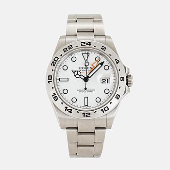 ROLEX, Oyster Perpetual Date, Explorer II, Chronometer, armbandsur, 42 mm.