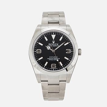 ROLEX, Oyster Perpetual, Explorer, Chronometer, armbandsur, 39 mm.