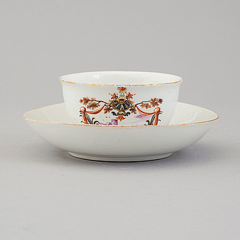 MEISSEN, MEISSEN, a Rococo porcelain cup and saucer, 18th Century.