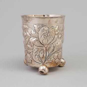 STEFFEN LUDVIGSEN LEMMICK, Aalborg bägare, silver, barock, 1700-talets första hälft.