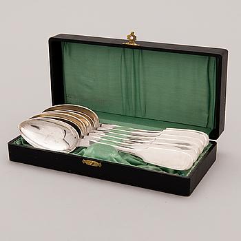 MATSKEDAR, 6 st, silver, Vladimir Morosov, S:t Petersburg 1800-talets slut.