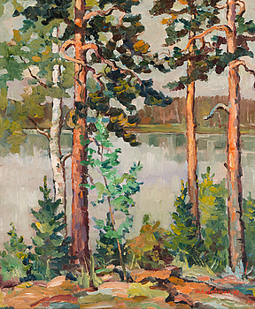 URHO SALOMAA, oil on canvas, signed and dated -48.