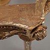Konsolbord, gustavianskt stockholmsarbete, 1700 talets slut