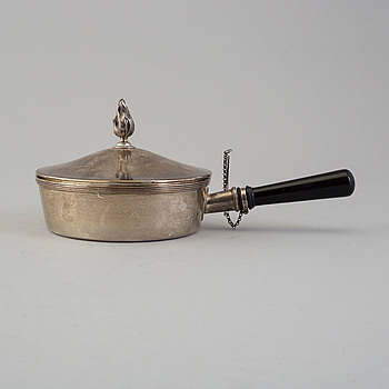CG HALLBERG, karott med lock, silver, Stockholm, 1914.