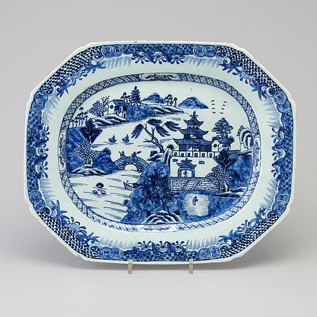 A chinese porcelin dish, qianlong (1736-1795).