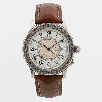LONGINES, Lindbergh Hour Angle Watch, designad av Charles Lindbergh, armbandsur, 38 mm.