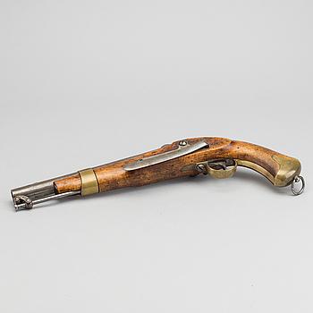 SLAGLÅSPISTOL, svensk, m/1854 för flottan, Huskvarna faktori 1859.