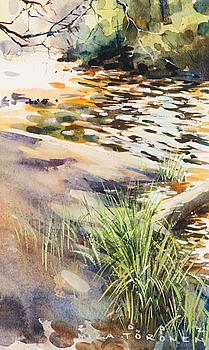 MIKA TÖRÖNEN, akvarell, signerad och daterad 2002.